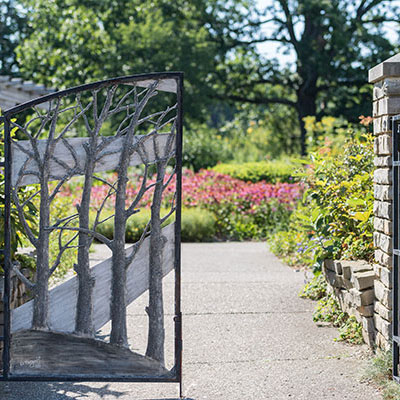 Gates to the Gateway Garden at Matthaei
