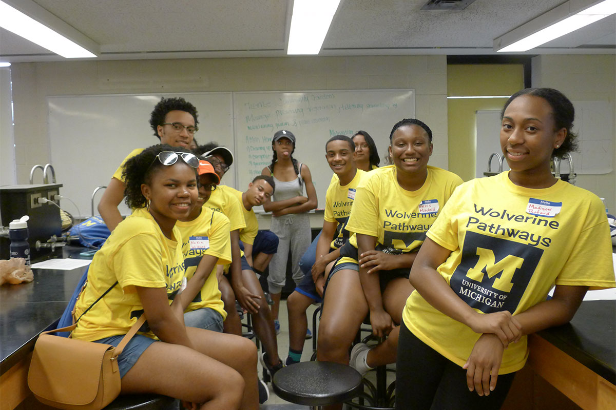 Wolverine pathways students at Matthaei