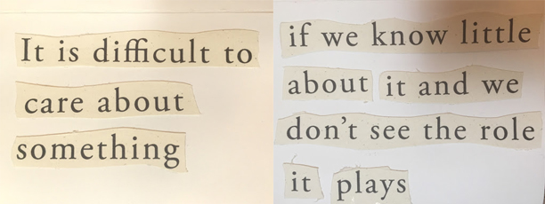 Poem on a card