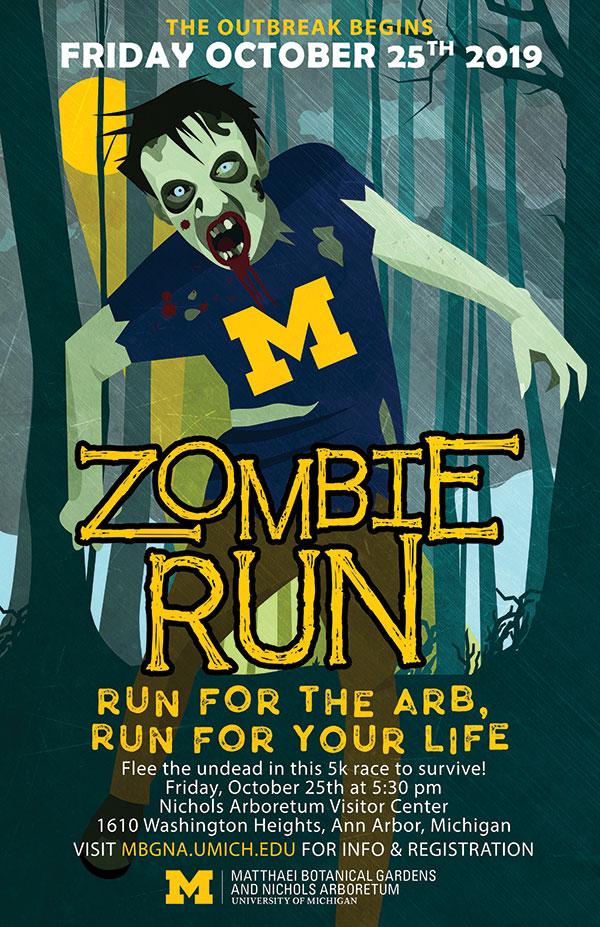 Zombie run poster