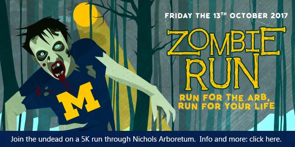 Zombie 5K in Nichols Arboretum