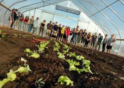 Campus farm students