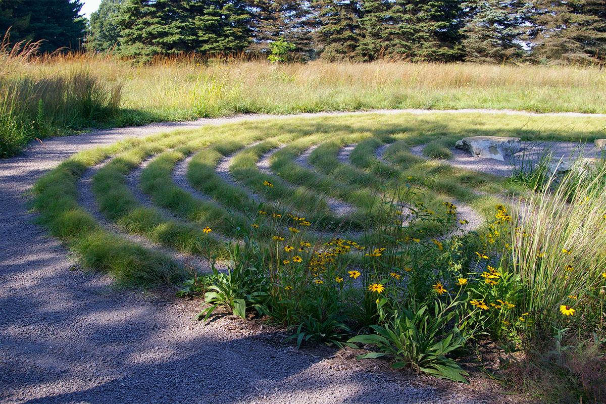 The labyrinth at Matthaei Botanical Gardens