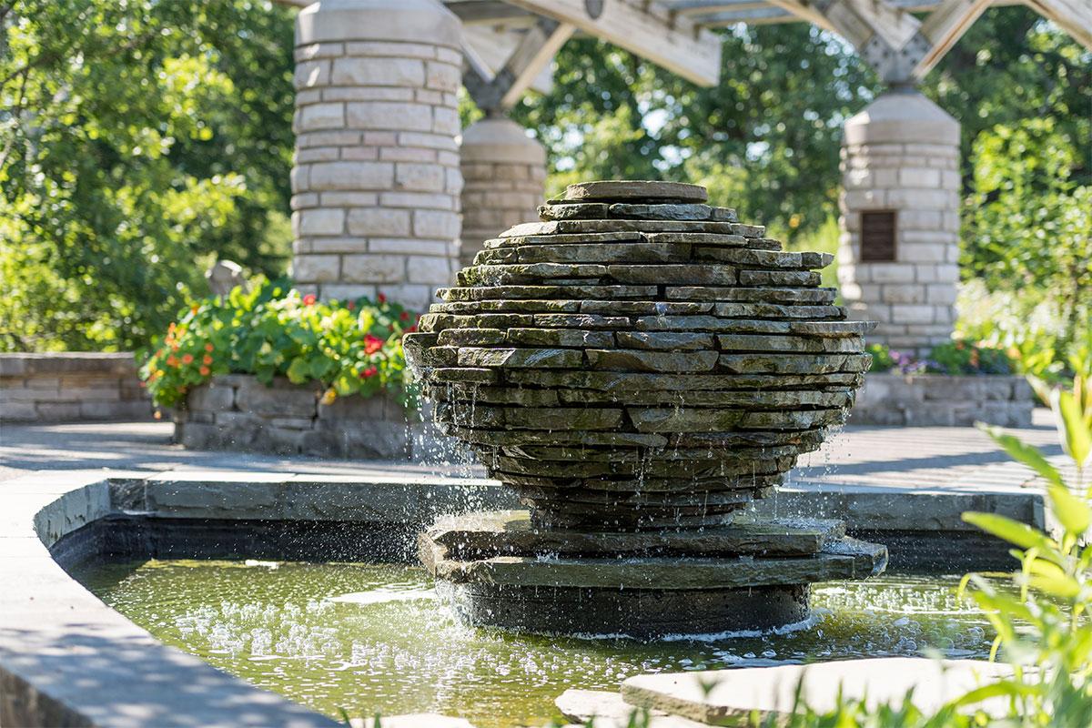 A Steiner fountain at Matthaei.