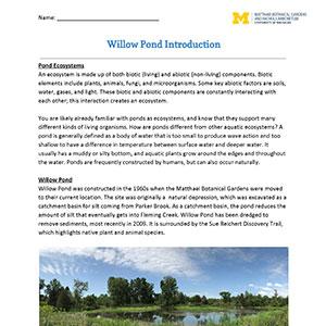 Download Willow Pond Program