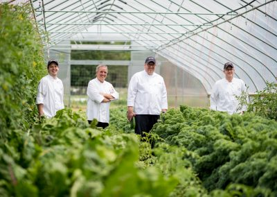Univ Michigan chefs in the campus farm