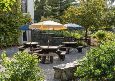 The patio at the Reader Center in the Arb. (Photo by Scott Soderberg.)