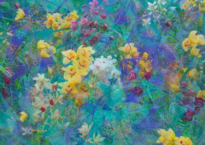 Ken-Axelrod-psychedelic-garden-digital-print-on-canvas
