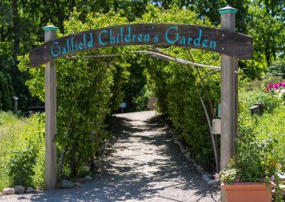Entrance to the Gaffield Children's Garden at Matthaei