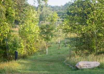 Sam Graham Trees Trail head at Matthaei