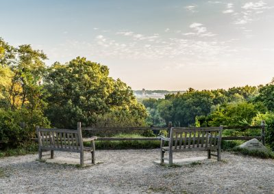 Overlook at Geddes entrance to Nichols Arboretum