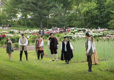 Shakespeare in the Arb often begins or ends in the Nichols Arboretum Peony Garden