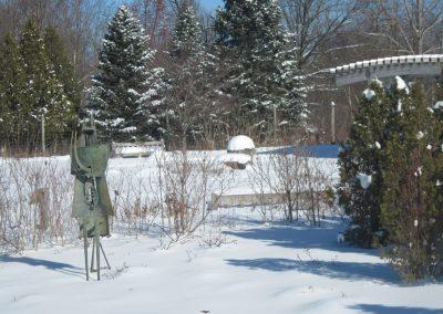 A sculpture at Matthaei Botanical Gardens
