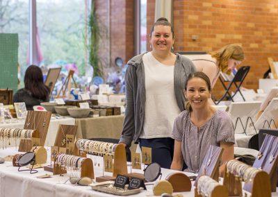 Two women at the artisans market.