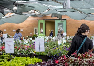 Shoppers during the Mother's Day Plant Sale.