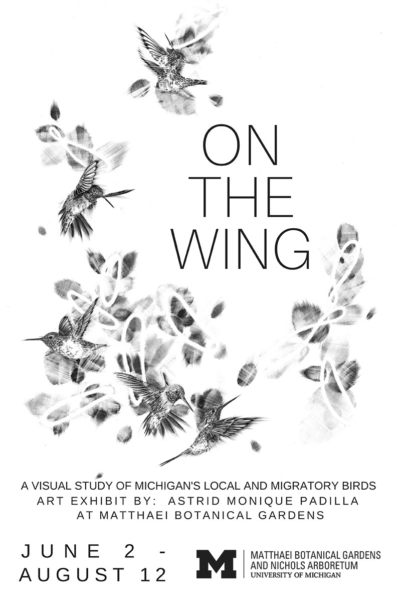 On the Wing art exhibit poster