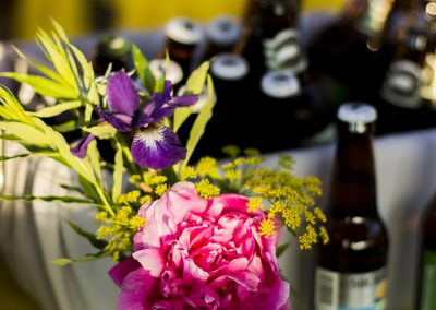 Flowers and refreshments.
