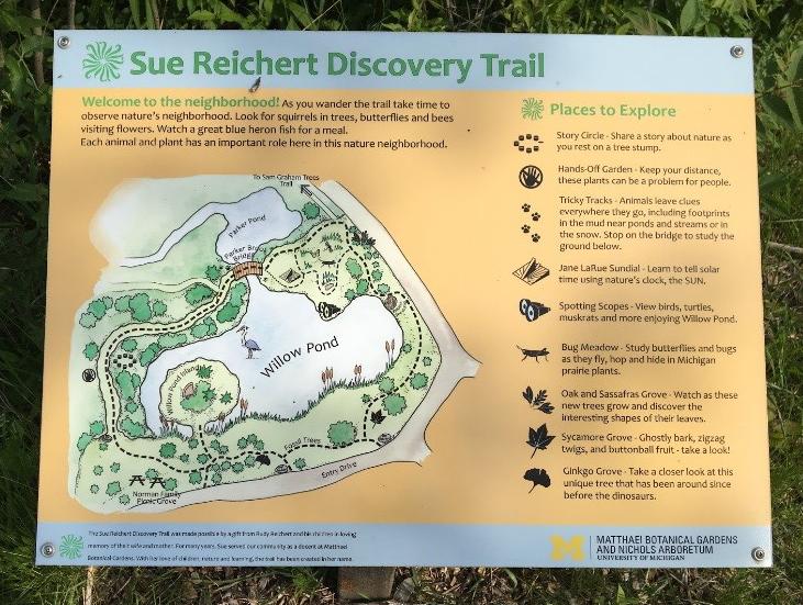 Sue Reichert trail map