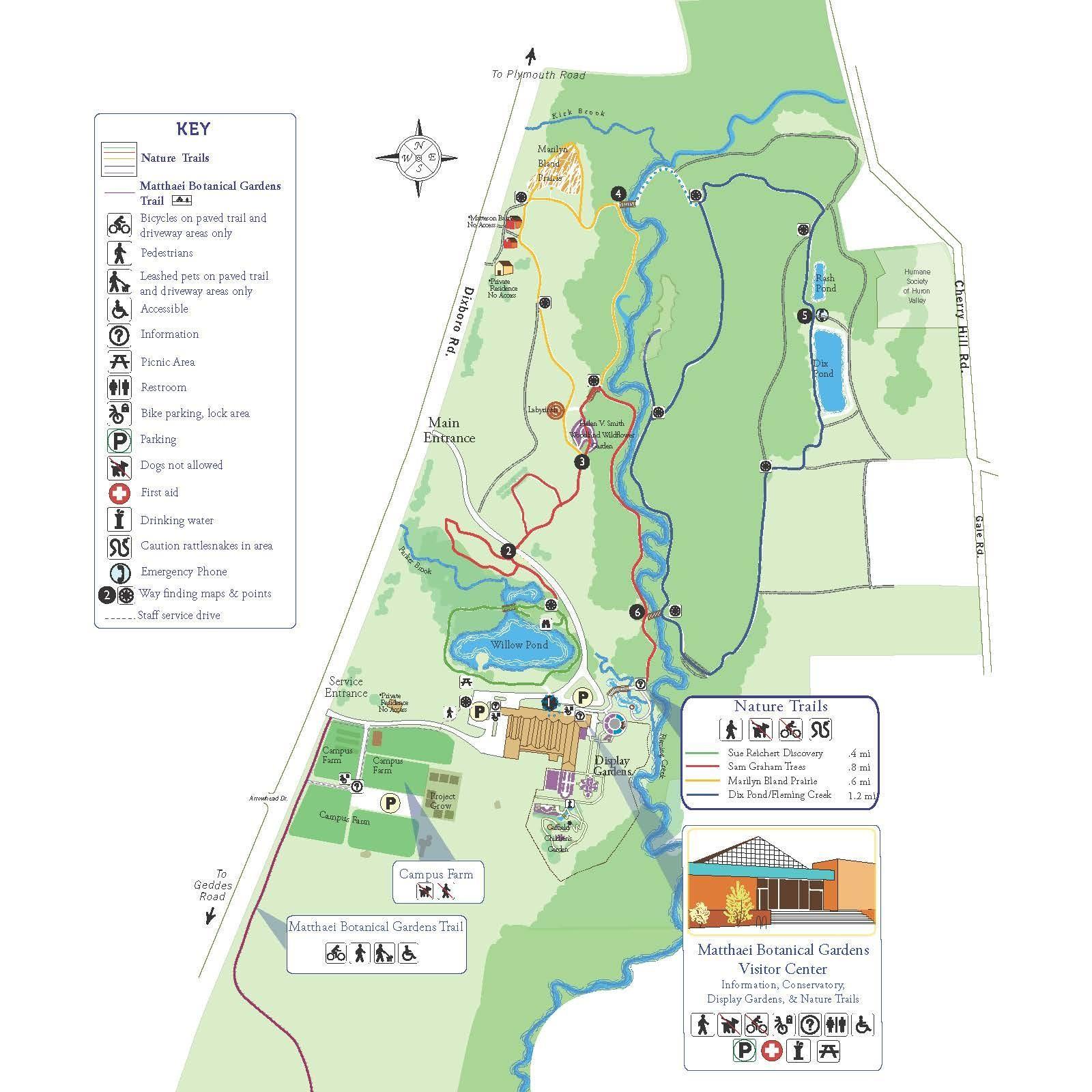 Matthaei trail map