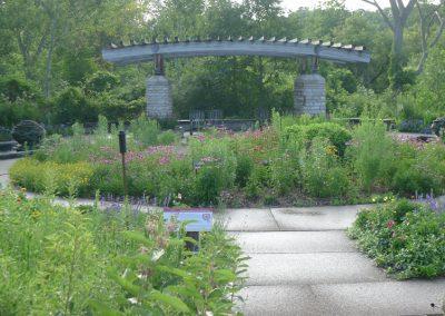 A view of the Gateway Garden at Matthaei.