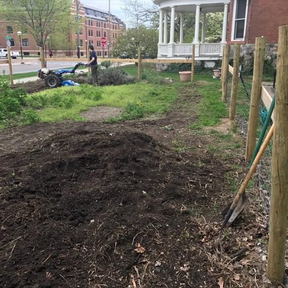 Preparing the garden space