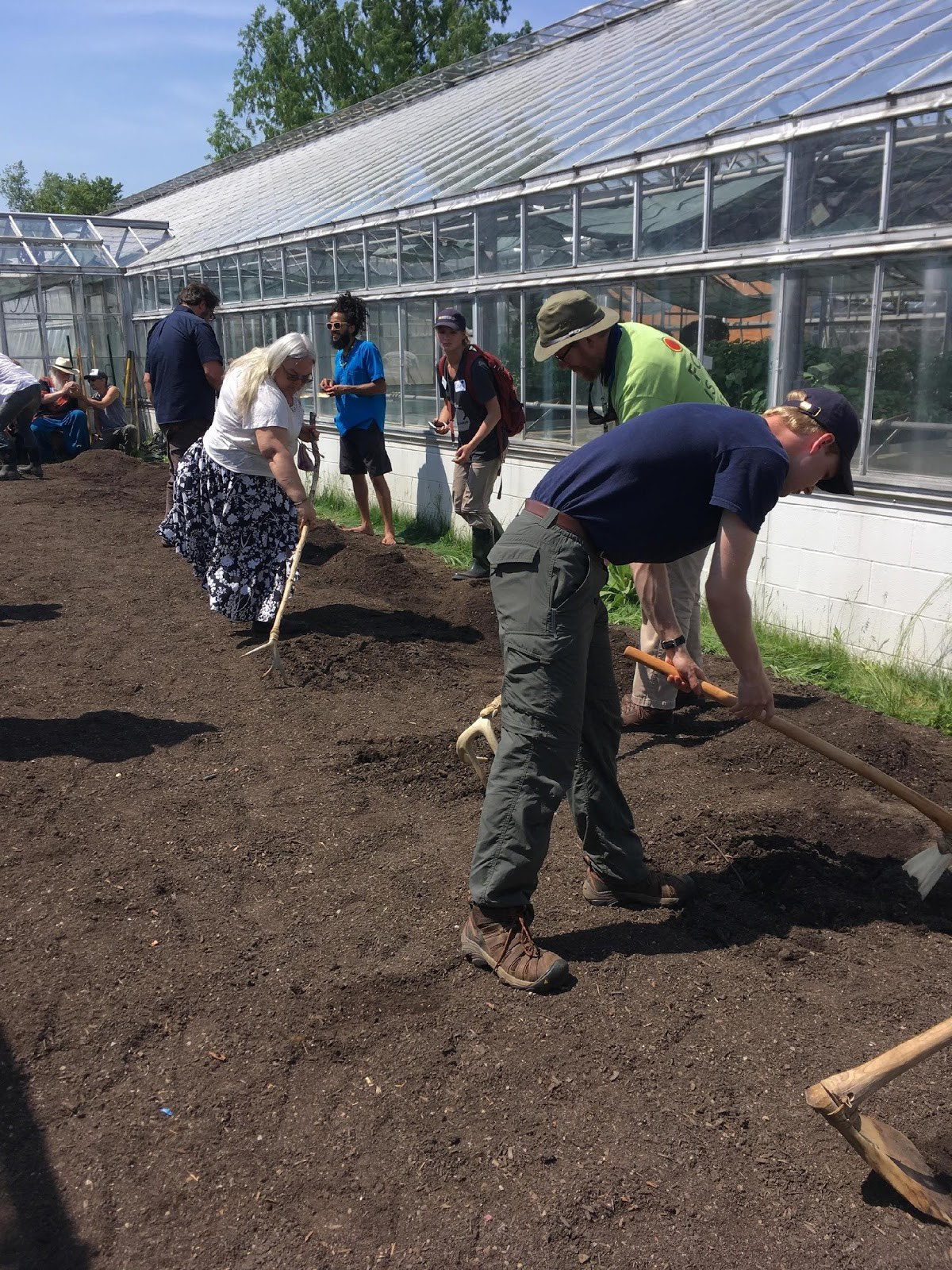 Tilling and planting the heritage seed garden