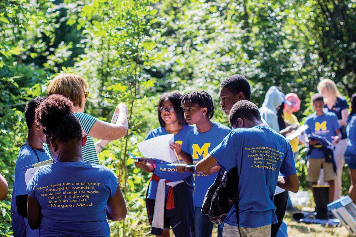 Wolverine Pathways students at Matthaei