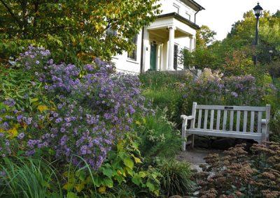 The Reader Center at Nichols Arboretum in autumn. Photo by Michele Yanga.