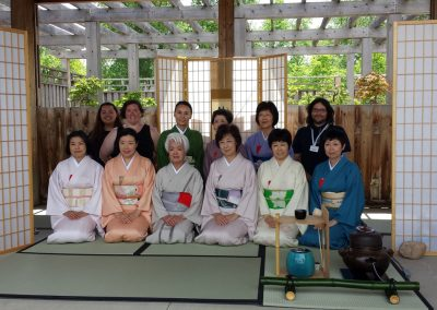Chado Urasenke's tea ceremony group