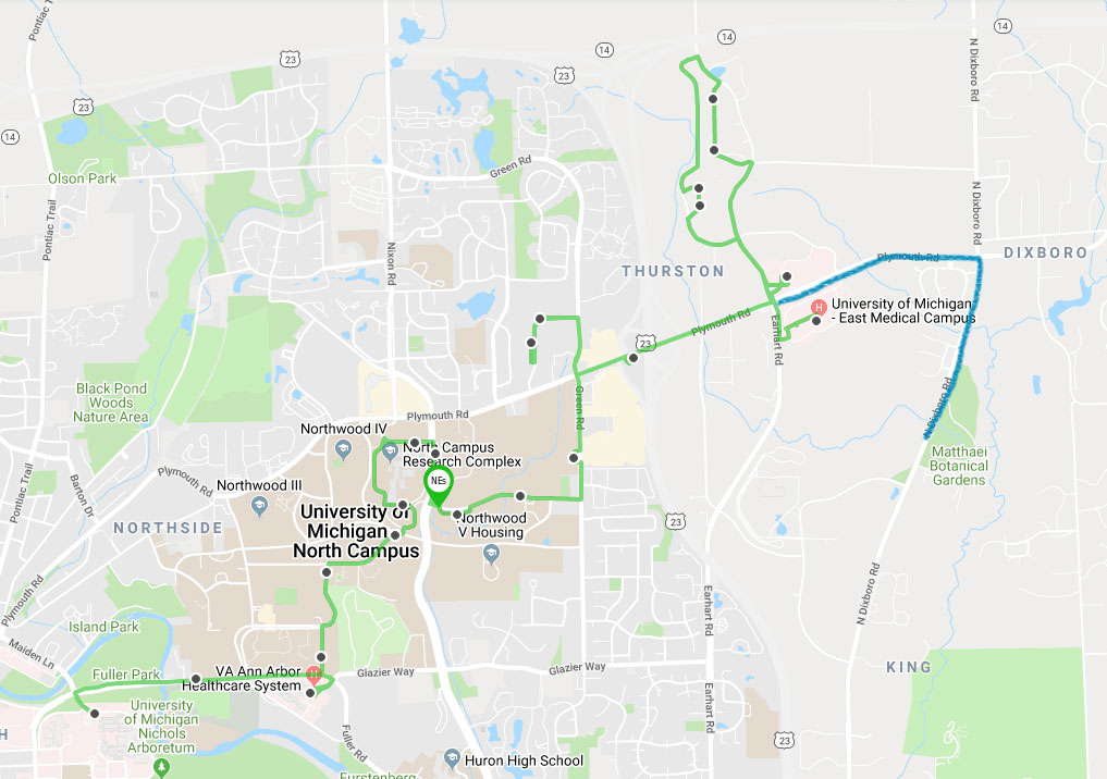 Proposed bus route to include Matthaei