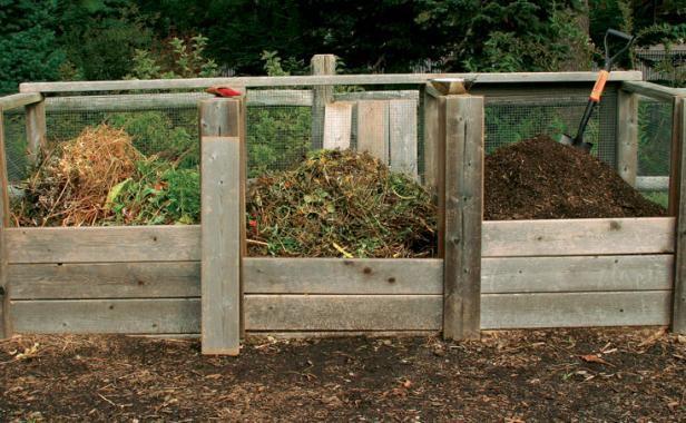 Three-bin compost method