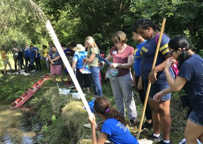 Matthaei docents and Wolverine Pathways students