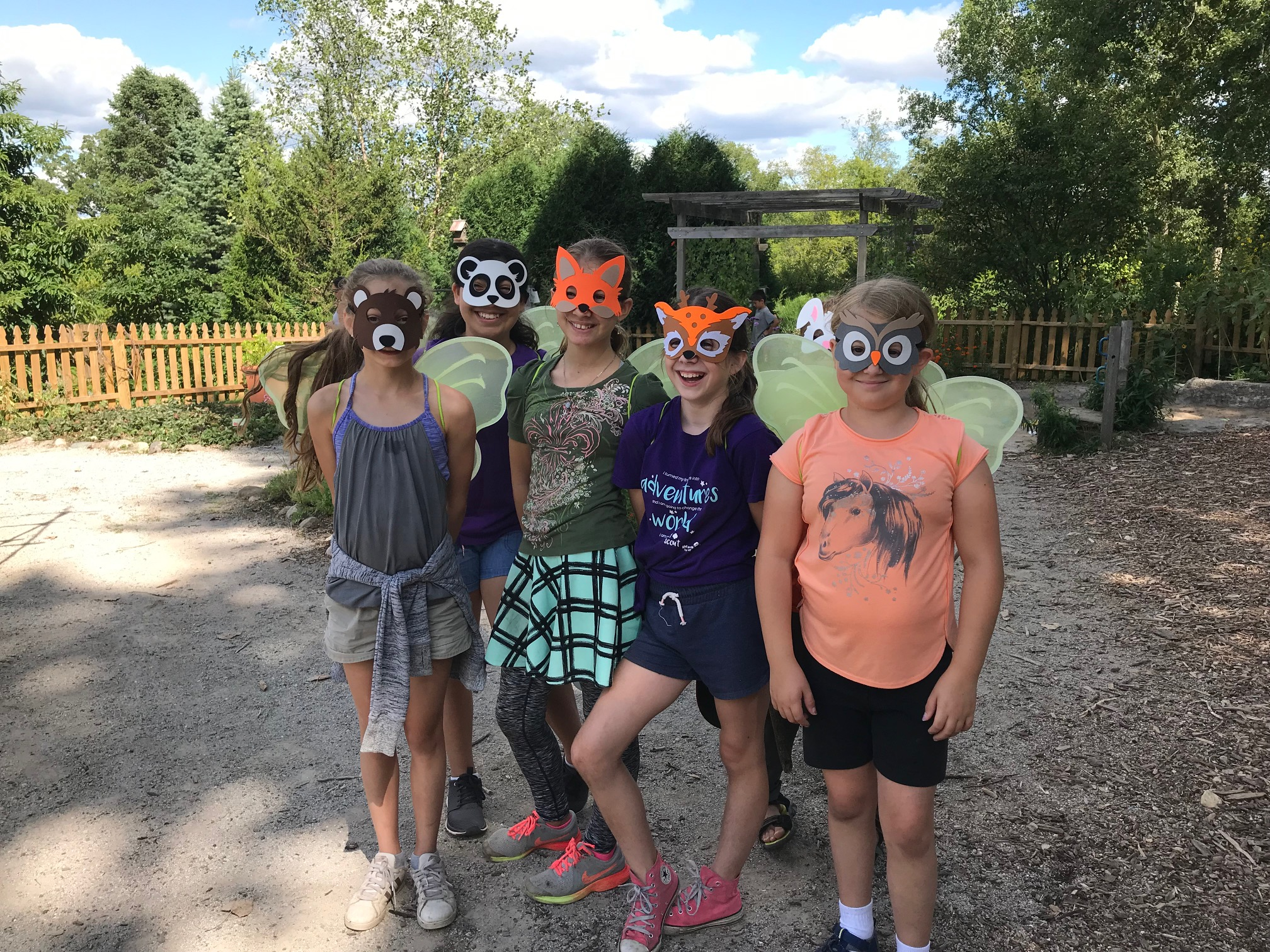 Wines scouts pose with masks