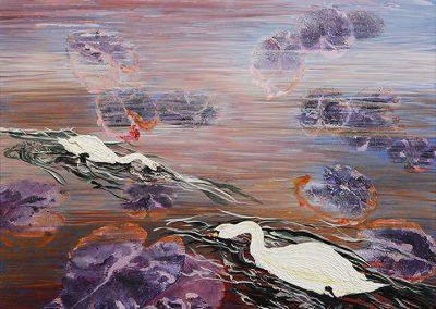 """Kyoto Swan Pond,"" Linda Hyong"