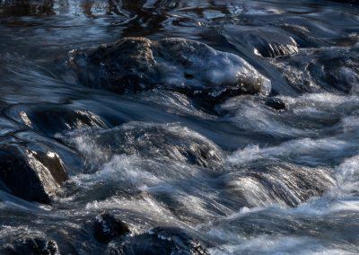 Water over rocks on Fleming Creek