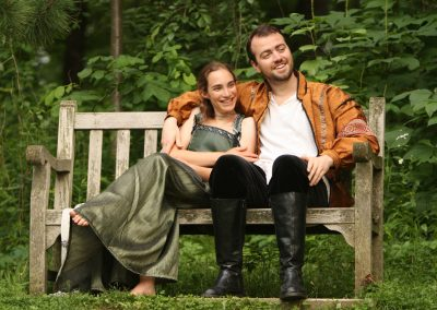 A scene from the 2010 production of Midsummer Night's Dream Shakespeare in the Arb. Photo by Kent McCormick.