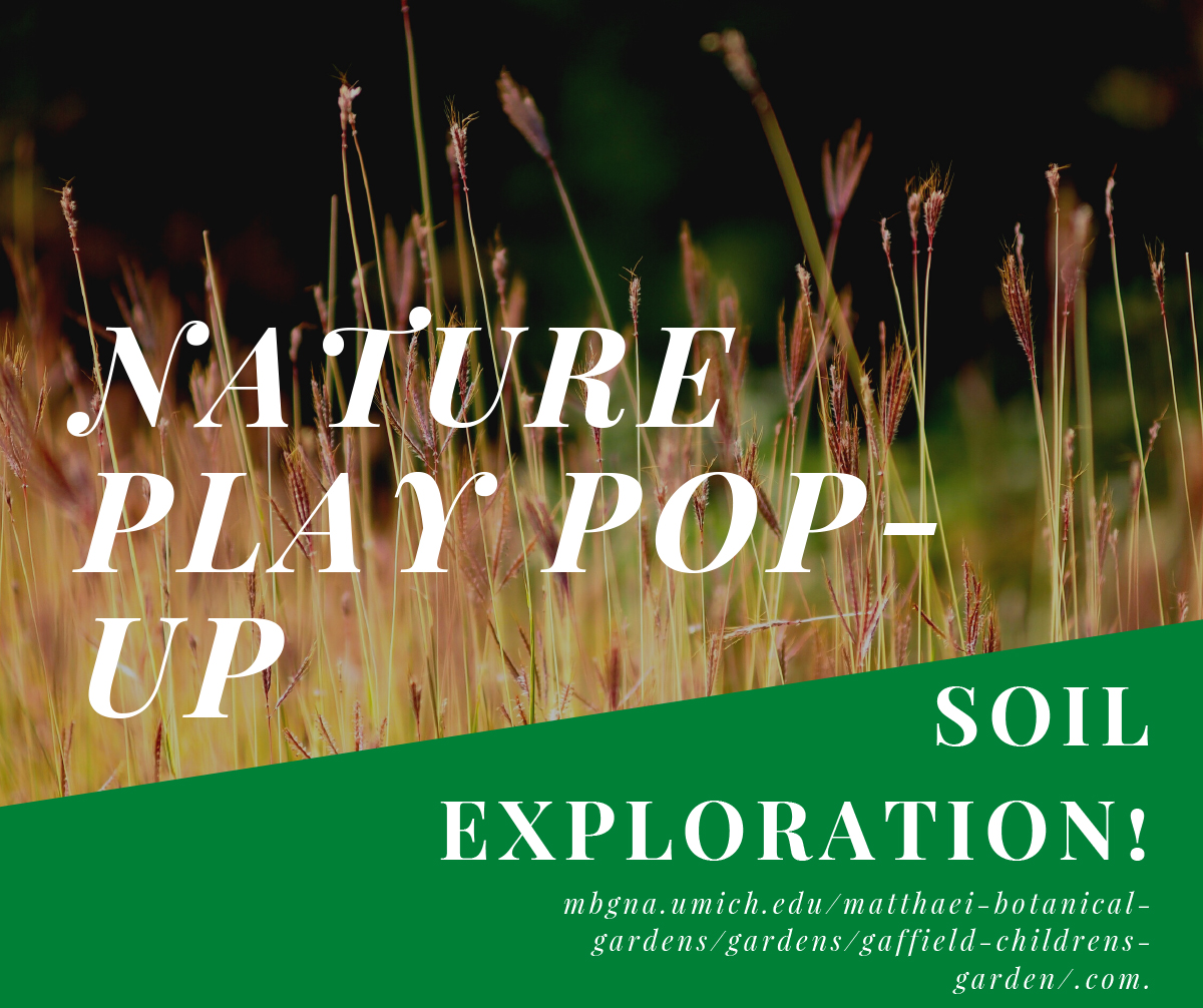 NAture play pop up soil exploration