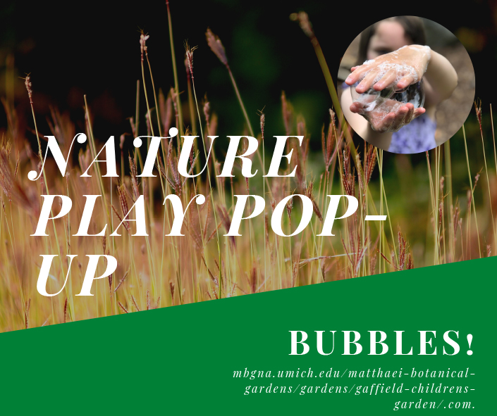 Nature play pop up - bubbles