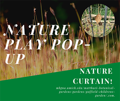 Nature Curtain nature play pop-up activity