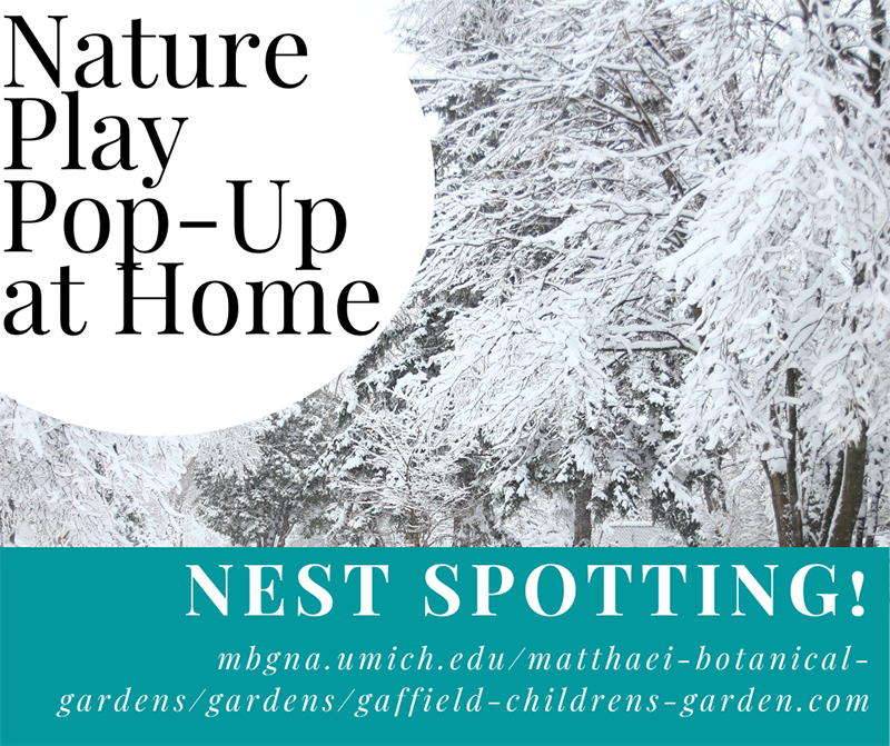 Nature play pop up for nests