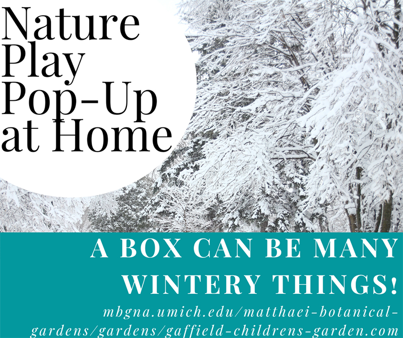 Winter boxes nature play pop up